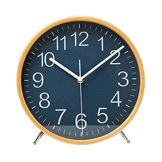 Amazon.com: Family Fireplace Clocks Simple and Creative Table Clock Solid Wood Silent Table Clock for NI ñ os Bedroom Suitable for Living Room Office ...
