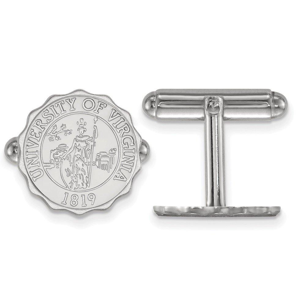 ソリッド925スターリングシルバーバージニア大学Crest Cuffリンク( 15 mm X 15 mm ) B076BMXHZ2