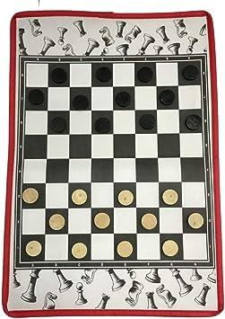 Damas / Tejidos no Tejidos Tablero de ajedrez Plegable Juego de ...