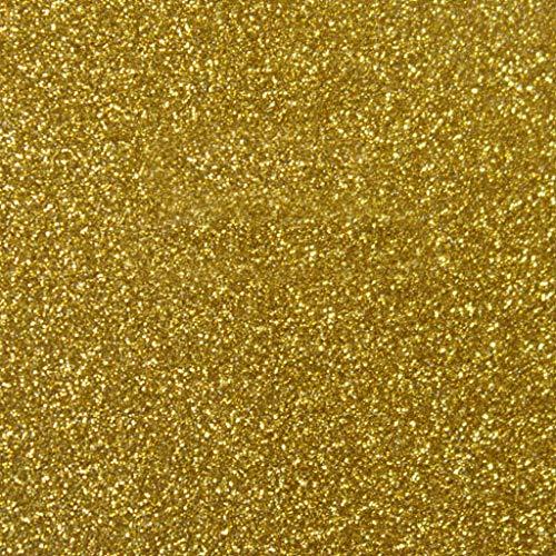 Siser Glitter HTV 20 x 12 Sheet - Iron on Heat Transfer Vinyl (Old Gold)