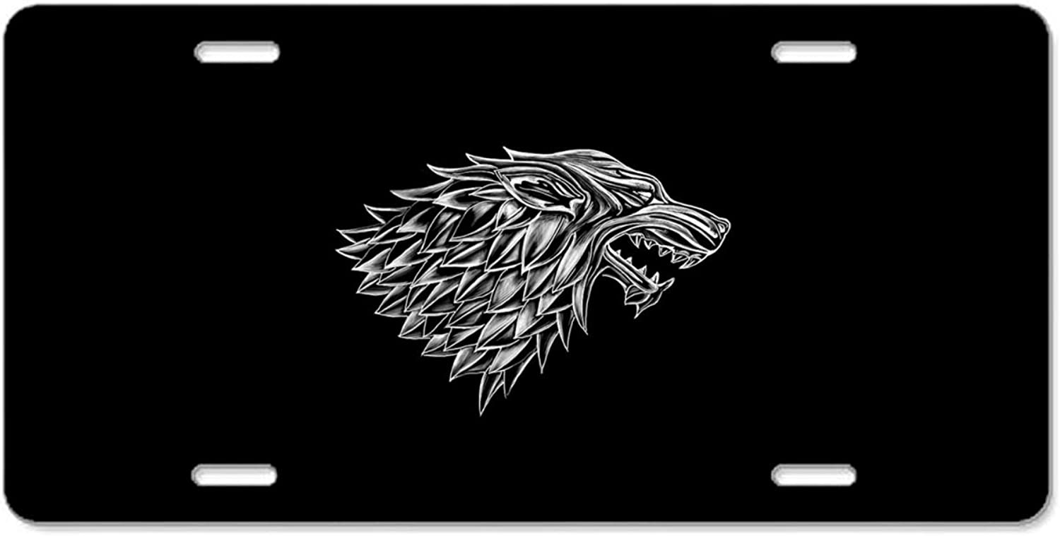 KSLIDS Game of Thrones License Plate Frame,Car Decoration Accessories,Quality Sturdy Metal Stainless Steel Frame