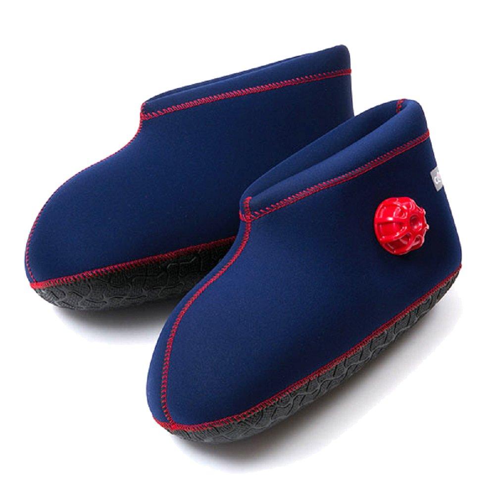 CLO'Z Yawaraka-Yutanpo Soft Hot-Water Bottle, For Feet, Sole Of Feet Included, Short-Type, Navy Blue, S: Up To 9.44'' (24Cm)