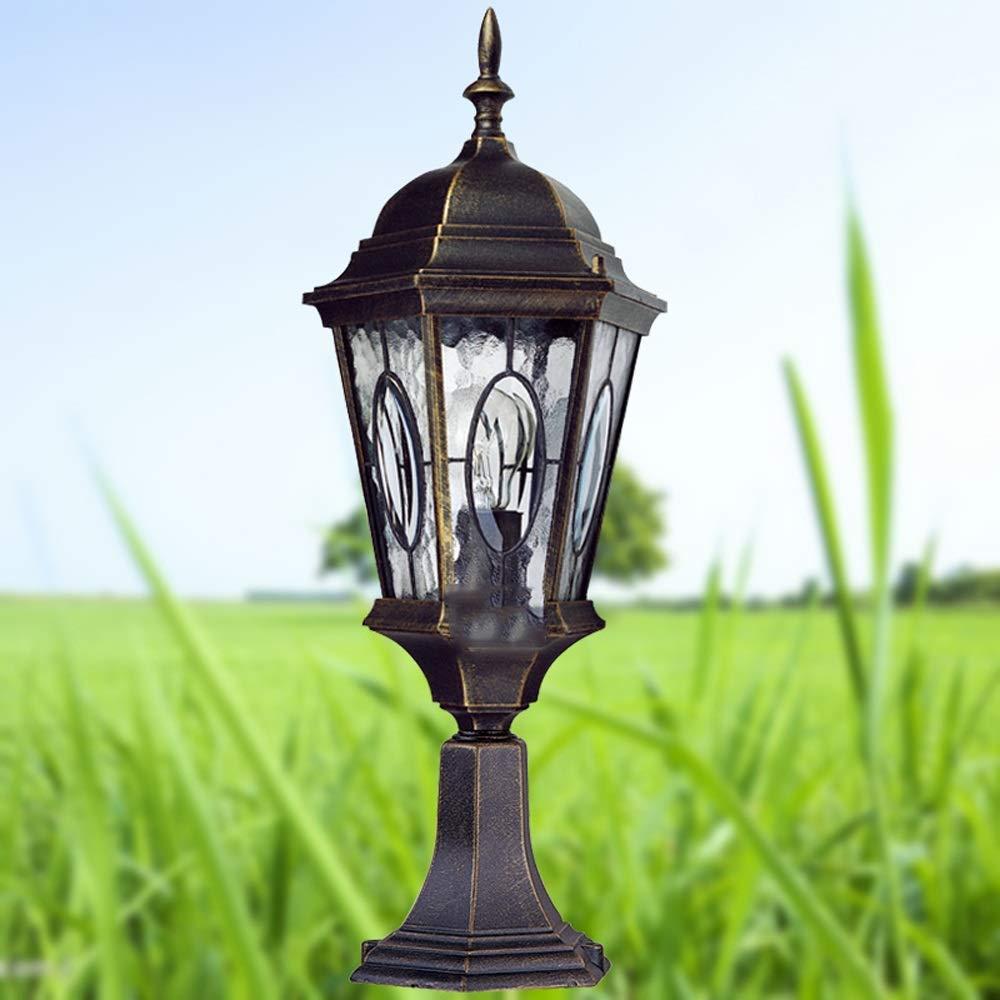 Wapipey Retro Vintage Traditional Column Light Waterproof Outdoor Pillar Light Fence European Villa Garden Lantern Courtyard Landscape Lighting Fixture E27 by Wapipey (Image #2)