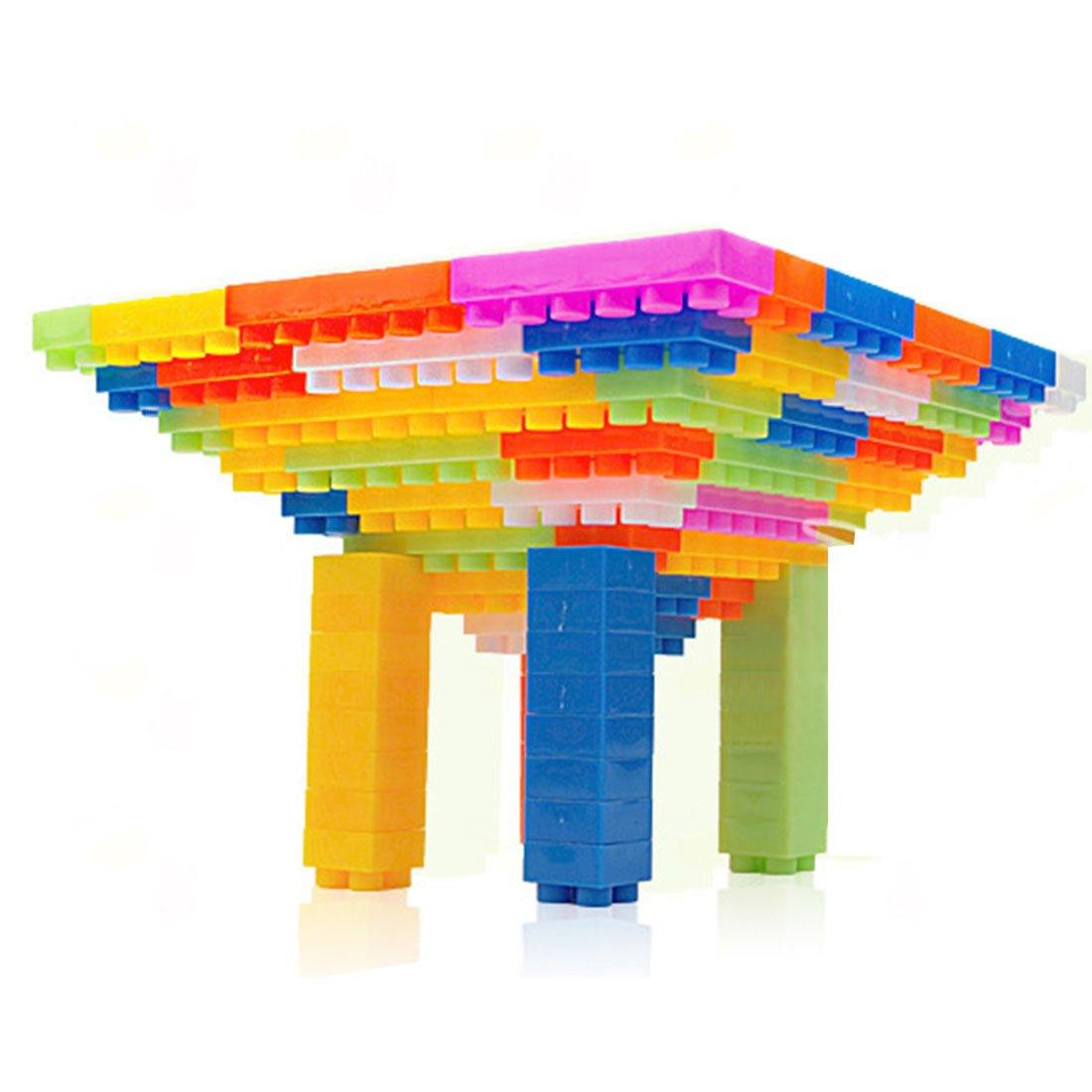 Tosbess Set da 216 Mattoncini per costruzioni grandi Contenitore Impilabile