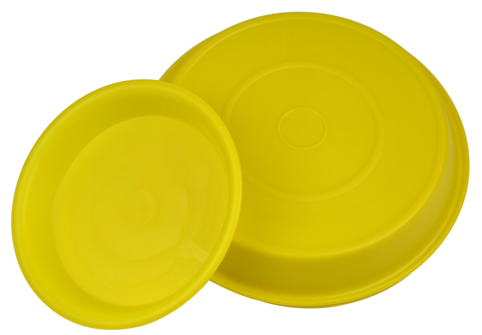 8.5'' Round Plant Saucer Planter Tray Pat Pallet for Flowerpot,Yellow,900 Count by Zhanwang (Image #2)