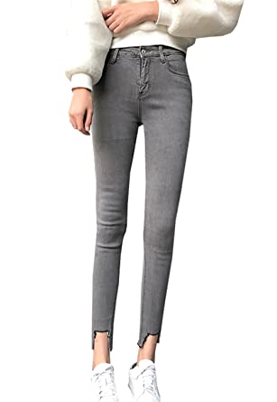 COCO clothing Carrot Skinny Jeans les Mujer Chino Vaqueros ...