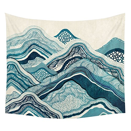 Fenta Polyester Tapestry Wall Hanging Decoration Landscape Scenery Sunrise