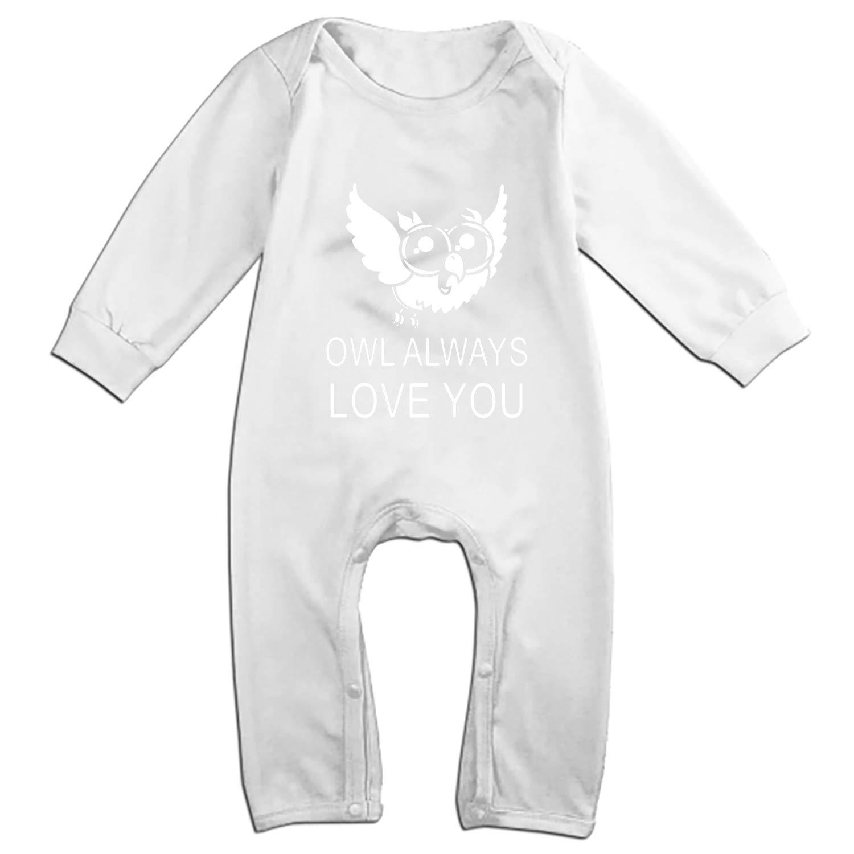 Owl Baby Onesies Long-Sleeve Infant Romper Unisex