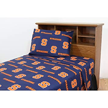 Amazon.com: 3 Piece NCAA Orange Sheet Twin XL Set, Blue Orange