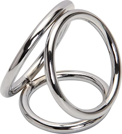 L Size 3 Ring Stainless Steel Metal Penis Ringsprevent Impotence3 Penis