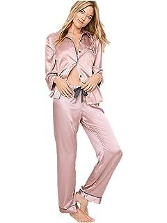 Victorias Secret Satin Pajama Set Lilac Lavender The Afterhours 2 Pieces Extra Large Regular