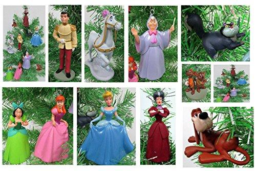 Cinderella Christmas Tree Ornament Set - Plastic Shatterproof Ornaments 2