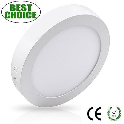 Montaje en Superficie Led Luz de Techo -12W Redondo Plana LED Luz de ...