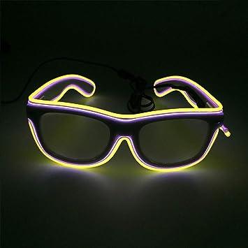 beste Turnschuhe gutes Geschäft hohe Qualität VVLOVE LED-Sonnenbrille mit LED-Licht, blinkende Brille