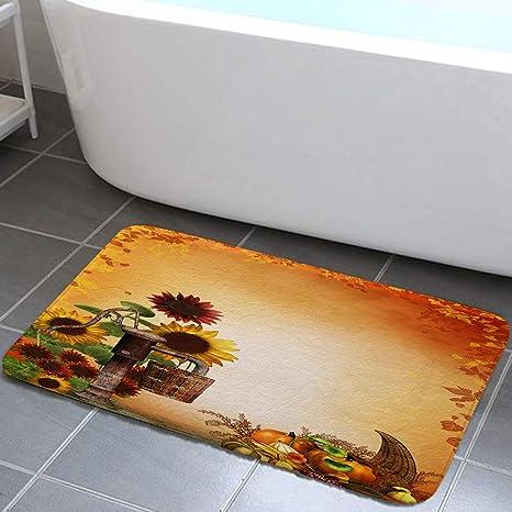 Amazon.com: DYNH Thanksgiving Holiday Bathroom Rug, Rustic ...
