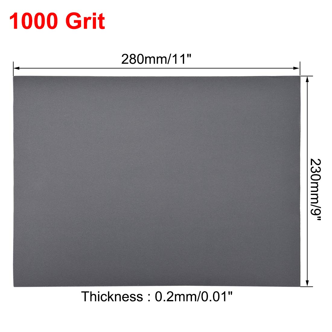 1500 grain sanding sheets 9 inches x 11 inches Dry and wet silicon carbide sandpaper for wood furniture Metal Automotive polishing 3 pieces