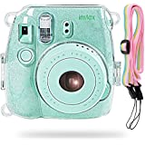 Katia Camera Case Bag for Fujifilm Instax Mini 9 Instant Camera , also for Fujifilm Instax Mini 8 Instant Film Camera with Strap - Shining Transparent