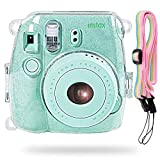 Katia Camera Hard Case Bag for Fujifilm Instax Mini 9 Instant Camera , also for Fujifilm Instax Mini 8 Instant Film Camera with Strap - Shining Transparent
