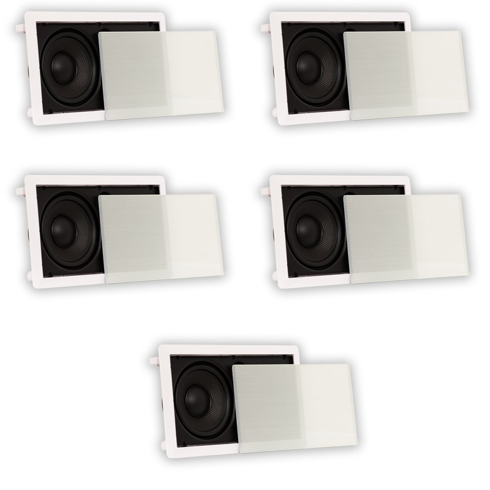Theater Solutions TSLCR65 In Wall 6.5'' Speakers Home Theater Compact 5 Speaker Set