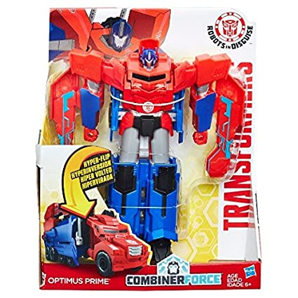 Transformers Robots in Disguise Combiner Force 3-Step Changer Optimus Prime Toy Figures at amazon