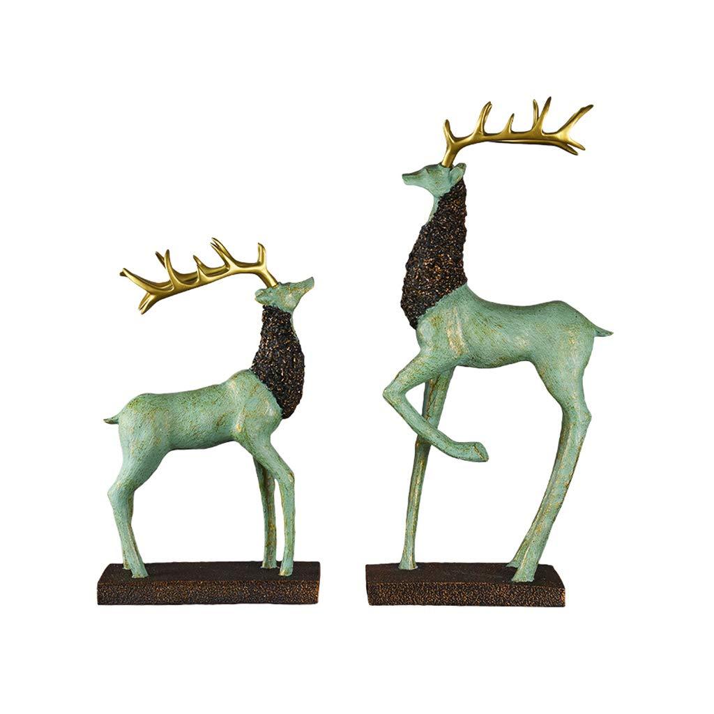 buen precio Jingtaohailang Ornamento del del del Regalo Decoración del Hogar Sala de EEstrella Decoración de Resina Creativa Ciervos Modelo Escultura Decoración Artesanía ( Color   plata , Talla   M )  descuento de bajo precio