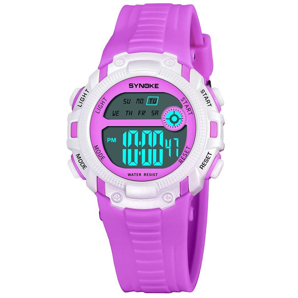 COOKI Kids Digital Sport Watch Boys Girls Outdoor Waterproof LED Watches Children Analog Quartz Wrist watch with Alarm for Child Boy Girls Gift Kids Watch (H)