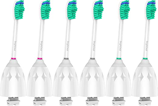 Brightdeal Replacement Brush Heads for Philips Sonicare Toothbrush E Series HX7022/66, Essence, Xtreme, Elite and Advance (6-pack)