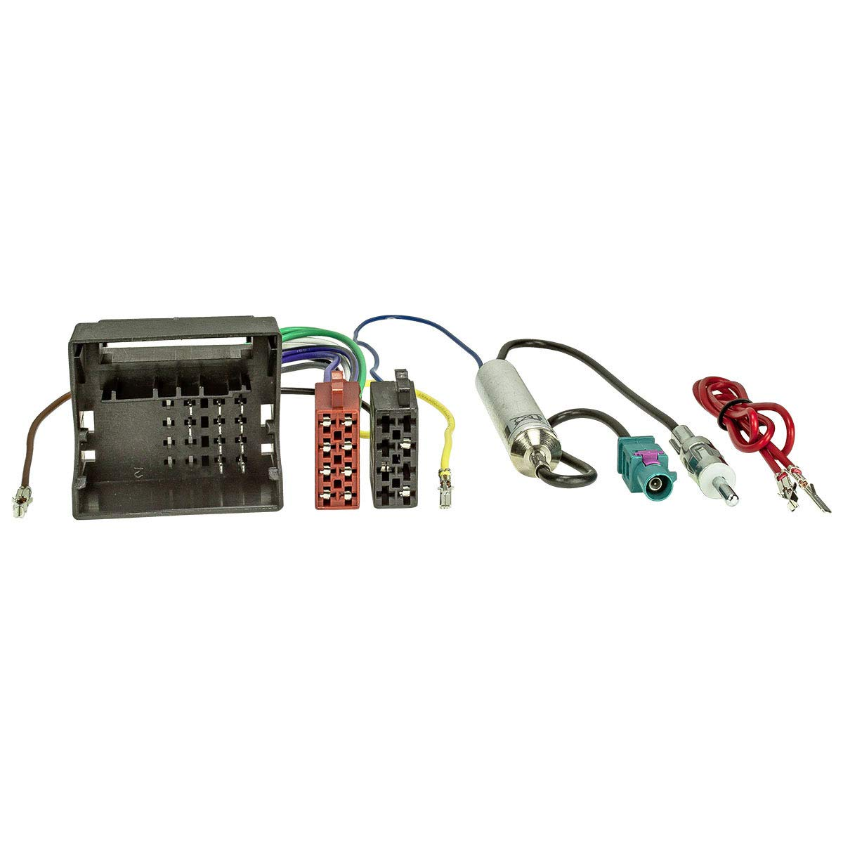 tomzz Audio 2457-018 Radioblende Set Profi-Version extrem stabil passend f/ür VW Polo,Fox mit Quadlockadapter ISO Fakra Antennenadapter Phantomeinspeisung DIN ISO