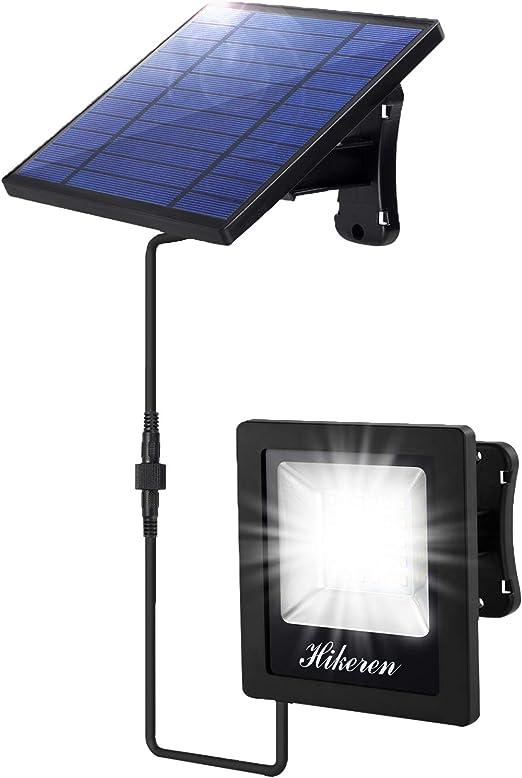 Luz Solar Exterior, Foco Led Solar Exterior Separada, IP65
