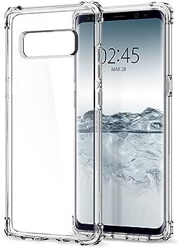REY Funda Anti-Shock Gel Transparente para Samsung Galaxy Note 8 / NOTE8, Ultra Fina 0,33mm, Esquinas Reforzadas, Silicona TPU de Alta Resistencia y Flexibilidad, Anti Golpes: Amazon.es: Electrónica