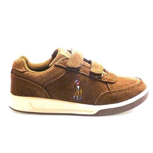 Ralph Lauren Zapatos Outlet Niño Roster EZ Marron: Amazon.es: Zapatos y complementos