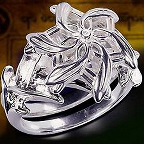 Lovely Ring - LOTR Lord of Elf Princess ring The Galadriel Nenya Zircon 925 Soild Sterling Silver Wedding Ring Size6