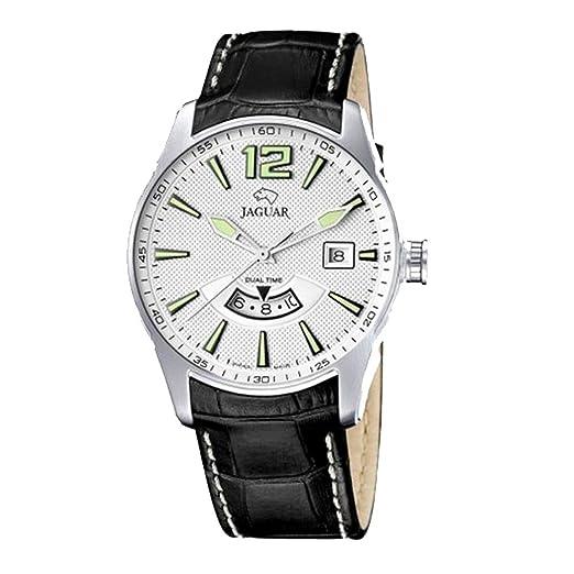 Reloj Jaguar Referencia J628/A con Calendario, Dual Time y Correa re Piel Negra: Amazon.es: Relojes