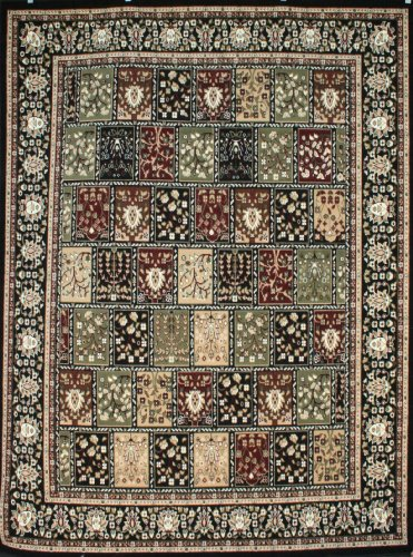 Generations Traditional Panel Squares Persian Area Rug, 9