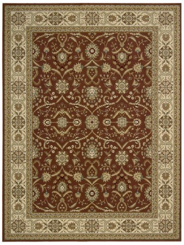 (Nourison Persian Crown (PC001) Brick Rectangle Area Rug, 7-Feet 10-Inches by 10-Feet 6-Inches (7'10