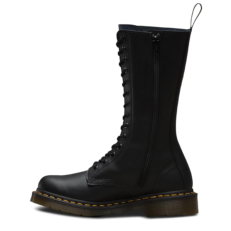 071c772ed0f Bottes hautes en cuir souple Dr Martens Vonda - Motif floral - Pour femme -  14 œillets  Amazon.fr  Chaussures et Sacs