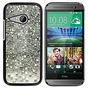 Be Good Phone Accessory // Dura Cáscara cubierta Protectora Caso Carcasa Funda de Protección para HTC ONE MINI 2 / M8 MINI // Reflective Polygon Pattern Glass