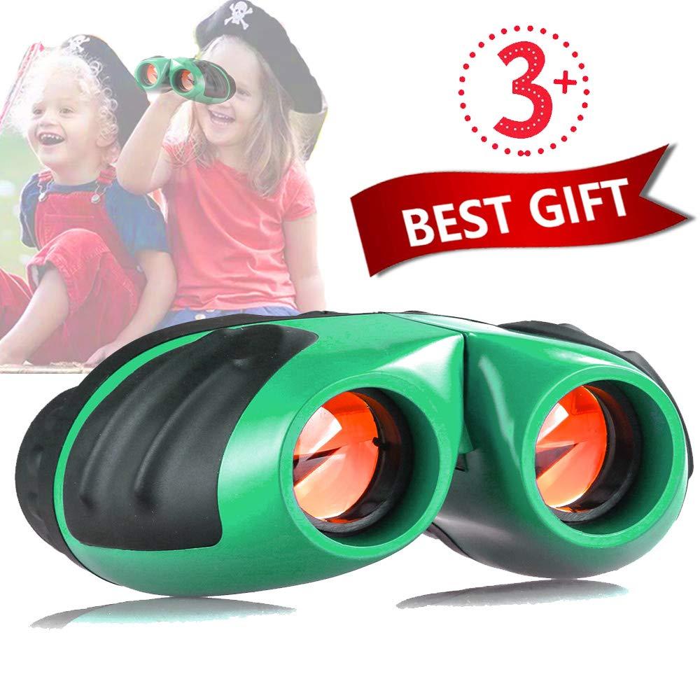 Niskite Gift for 4 5 Years Old Boys, Binoculars for Kids Children,Best Toys for 6 7 8 9 10 Years Age Girls Green