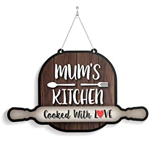 100yellow Mom'S Kitchen Wall Door Hanging (Wooden, 7 X 11 Inch)