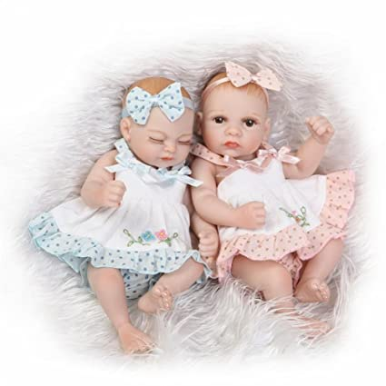 4cc8093a6c Buy Twins Girl 11'' Baby Dolls Full Body Vinyl Silicone Couple Pairs Bath  Toy Online at Low Prices in India - Amazon.in