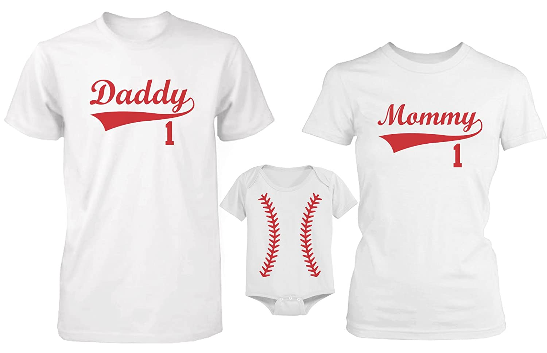 love 365 In Camiseta de béisbol con Texto en inglés Daddy or Mommy ...