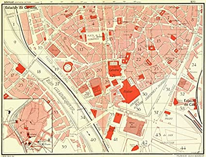 Amazon.com: SPAIN. Seville Southern Section - 1929 - old map ...