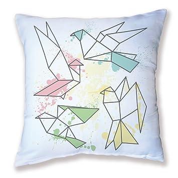 Fluffy Chamalow - Cojín decorativo con motivo de pájaro de ...