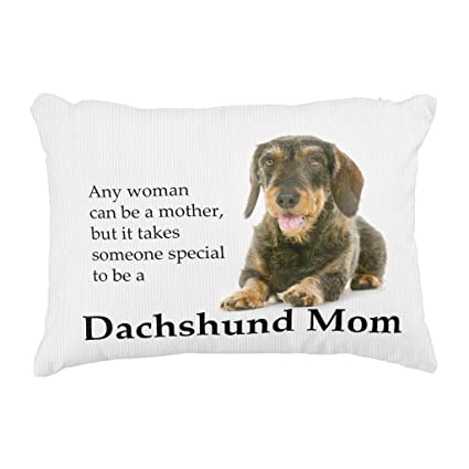 Amazon.com: Zazzle Wirehaired Dachshund Mom Pillow: Home & Kitchen
