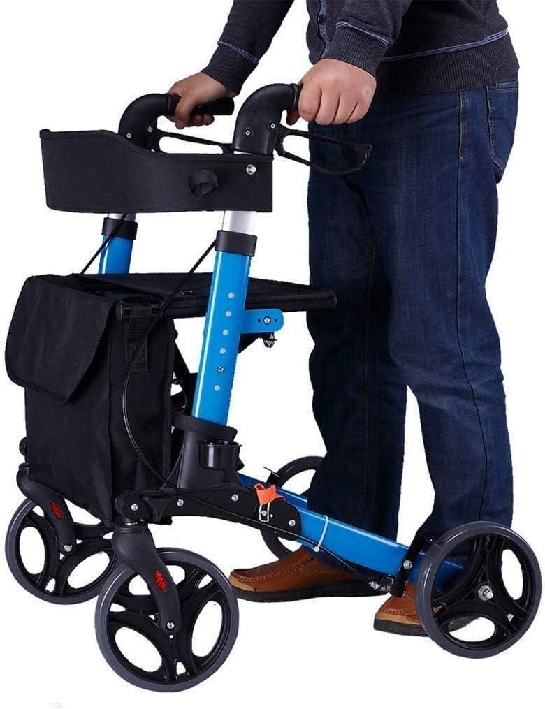 障害者歩行 歩行器ウォーキングエイズは、年配者のための歩行器を折り、ウルトラモビリティエイド四輪、ドライブ医療歩行器歩行器高さ調節無料インストール 四隅の杖