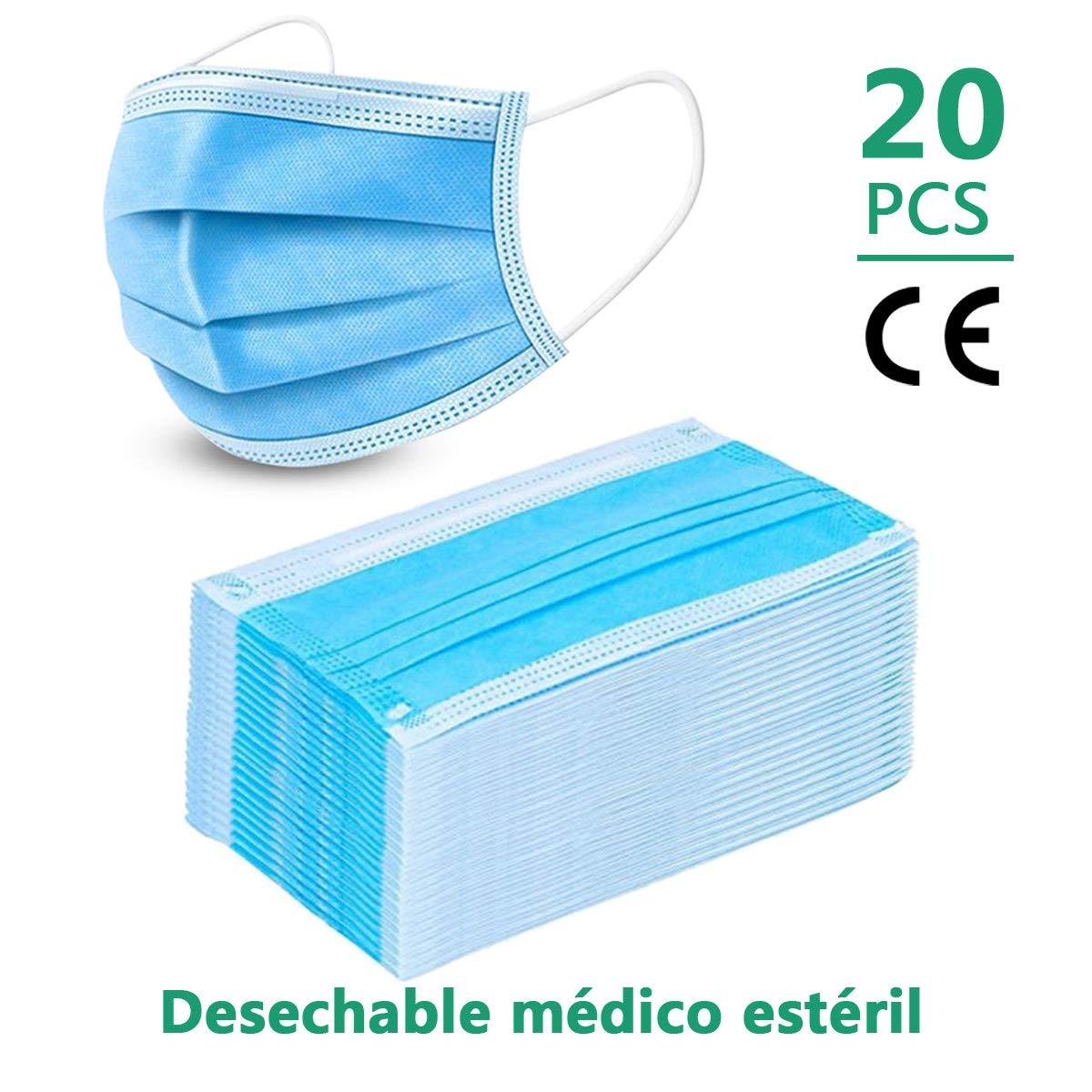 El Uso quirúrgico (20 PCS) Máscara Facial M-A-S-K-S, la protección de la Salud, el Cuidado médico Esteticista-Uso-Sellado estándar Bolsa higiénica