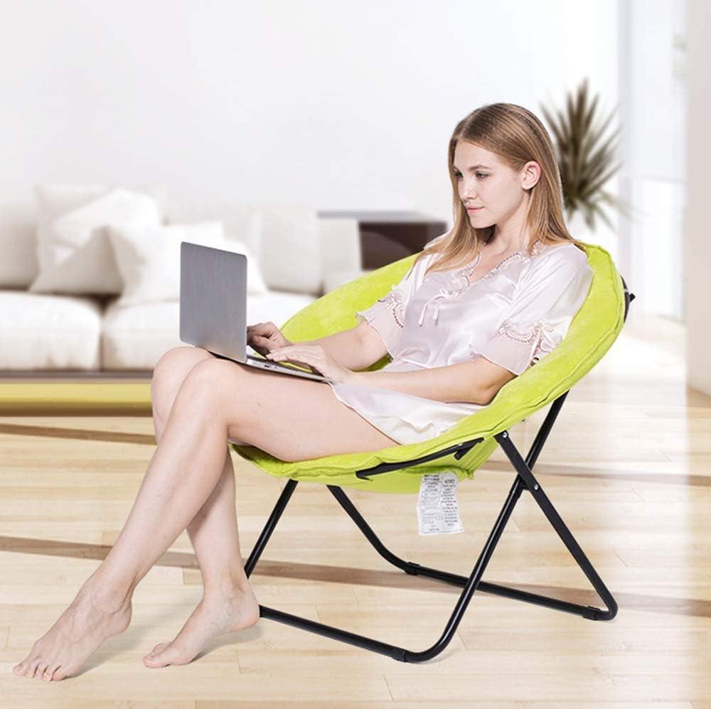 Cxjff Modern Lazy Sofa | Koffer Chair Lounge Room Moon Chair Ligstoel Klap Lazy Chair Sofa Chair 71x82x75cm D D