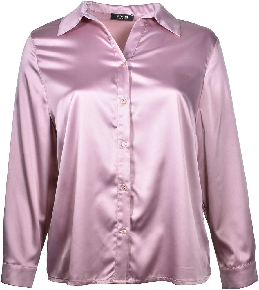 Elena - Camisa de Fluido Calado para Mujer Atalia 55 53, Color Rosa Rosa Scuro 49: Amazon.es: Ropa y accesorios