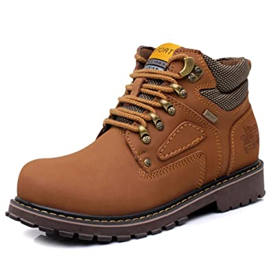 New Enllerviid Men's Comfort Hardwearing Working Ankle Boots Good ...