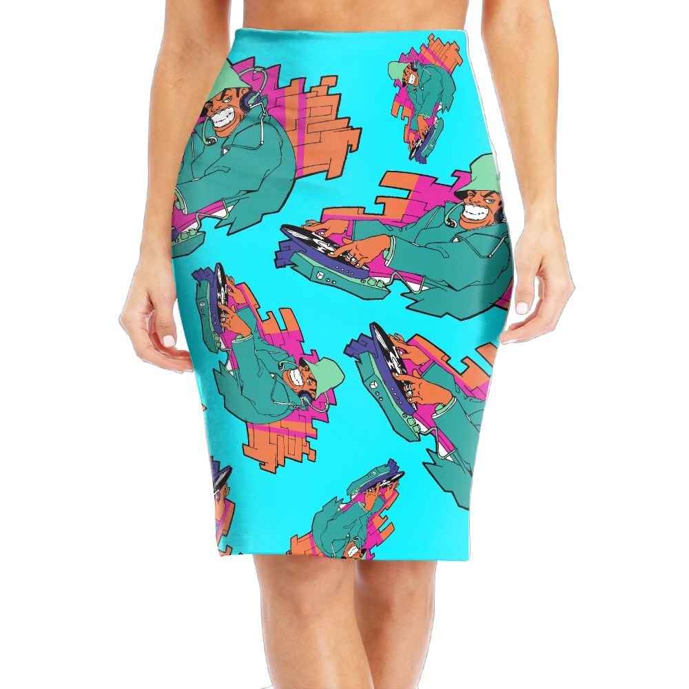 Grh Skirt DJ Pug With Sun Glasses Women Knee Length Skirts Slim Fit Modern Series Pencil Skirts